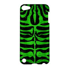 Skin2 Black Marble & Green Brushed Metal Apple Ipod Touch 5 Hardshell Case