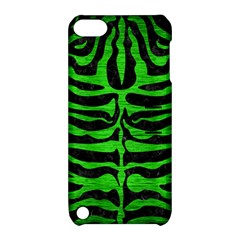 Skin2 Black Marble & Green Brushed Metal Apple Ipod Touch 5 Hardshell Case With Stand
