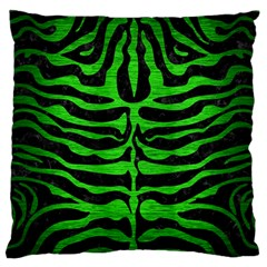 Skin2 Black Marble & Green Brushed Metal Standard Flano Cushion Case (two Sides)