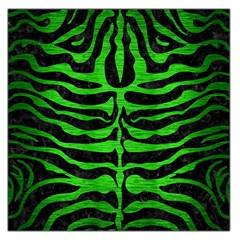 Skin2 Black Marble & Green Brushed Metal Large Satin Scarf (square)