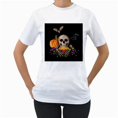 Halloween Candy Keeper Women s T Shirt (white) (two Sided)