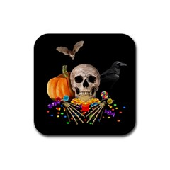 Halloween Candy Keeper Rubber Square Coaster (4 Pack)