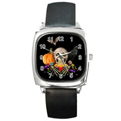 Halloween Candy Keeper Square Metal Watch