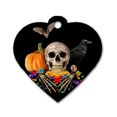 Halloween Candy Keeper Dog Tag Heart (one Side)