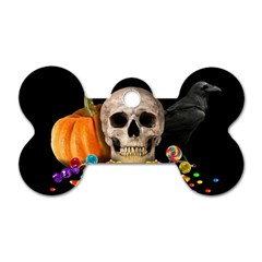 Halloween Candy Keeper Dog Tag Bone (two Sides)