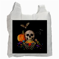 Halloween Candy Keeper Recycle Bag (two Side)