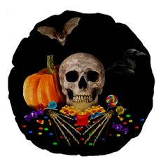 Halloween Candy Keeper Large 18  Premium Round Cushions