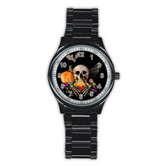 Halloween Candy Keeper Stainless Steel Round Watch