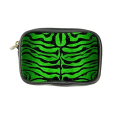 Skin2 Black Marble & Green Brushed Metal (r) Coin Purse