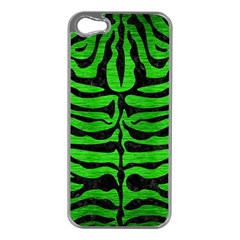 Skin2 Black Marble & Green Brushed Metal (r) Apple Iphone 5 Case (silver)