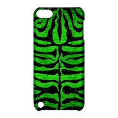 Skin2 Black Marble & Green Brushed Metal (r) Apple Ipod Touch 5 Hardshell Case With Stand