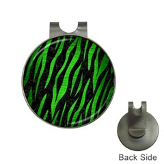 Skin3 Black Marble & Green Brushed Metal Hat Clips With Golf Markers
