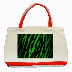 Skin3 Black Marble & Green Brushed Metal Classic Tote Bag (red)