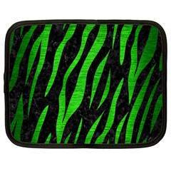 Skin3 Black Marble & Green Brushed Metal Netbook Case (xxl)