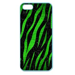 Skin3 Black Marble & Green Brushed Metal Apple Seamless Iphone 5 Case (color)