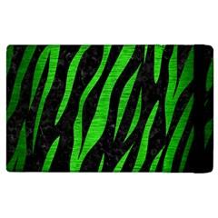 Skin3 Black Marble & Green Brushed Metal Apple Ipad 3/4 Flip Case