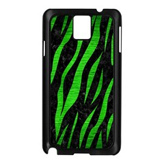 Skin3 Black Marble & Green Brushed Metal Samsung Galaxy Note 3 N9005 Case (black)
