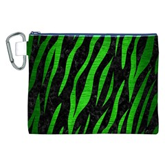Skin3 Black Marble & Green Brushed Metal Canvas Cosmetic Bag (xxl)