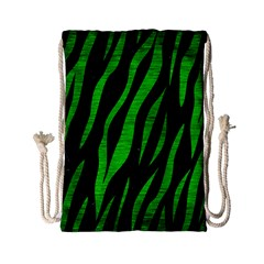 Skin3 Black Marble & Green Brushed Metal Drawstring Bag (small)