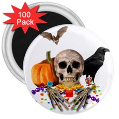 Halloween Candy Keeper 3  Magnets (100 Pack)