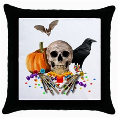 Halloween Candy Keeper Throw Pillow Case (black)