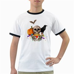 Halloween Candy Keeper Ringer T Shirts