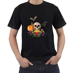Halloween Candy Keeper Men s T Shirt (black) (two Sided)