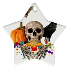Halloween Candy Keeper Star Ornament (two Sides)