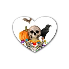 Halloween Candy Keeper Rubber Coaster (heart)