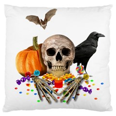 Halloween Candy Keeper Large Cushion Case (one Side)