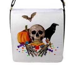 Halloween Candy Keeper Flap Messenger Bag (l)