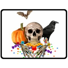 Halloween Candy Keeper Double Sided Fleece Blanket (large)