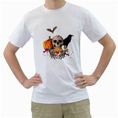 Halloween Candy Keeper Men s T Shirt (white)