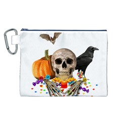 Halloween Candy Keeper Canvas Cosmetic Bag (l)