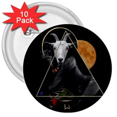 Spiritual Goat 3  Buttons (10 Pack)