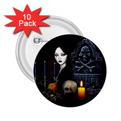 Vampires Night  2 25  Buttons (10 Pack)