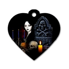 Vampires Night  Dog Tag Heart (one Side)