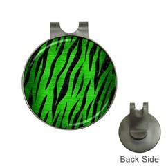 Skin3 Black Marble & Green Brushed Metal (r) Hat Clips With Golf Markers