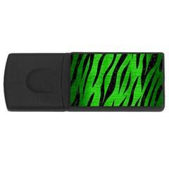 Skin3 Black Marble & Green Brushed Metal (r) Rectangular Usb Flash Drive