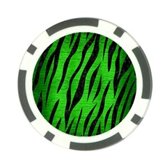 Skin3 Black Marble & Green Brushed Metal (r) Poker Chip Card Guard (10 Pack)