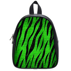 Skin3 Black Marble & Green Brushed Metal (r) School Bag (small)