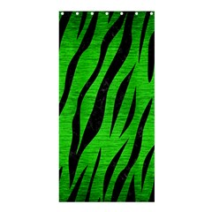 Skin3 Black Marble & Green Brushed Metal (r) Shower Curtain 36  X 72  (stall)