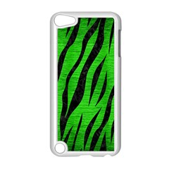 Skin3 Black Marble & Green Brushed Metal (r) Apple Ipod Touch 5 Case (white)