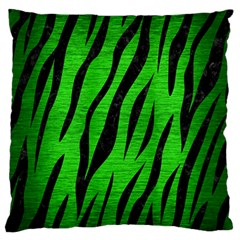 Skin3 Black Marble & Green Brushed Metal (r) Large Flano Cushion Case (two Sides)