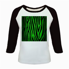 Skin4 Black Marble & Green Brushed Metal Kids Baseball Jerseys