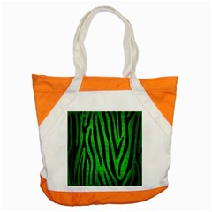 Skin4 Black Marble & Green Brushed Metal Accent Tote Bag