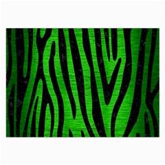 Skin4 Black Marble & Green Brushed Metal Large Glasses Cloth (2 Side)