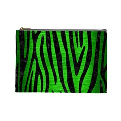 Skin4 Black Marble & Green Brushed Metal Cosmetic Bag (large)