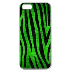 Skin4 Black Marble & Green Brushed Metal Apple Seamless Iphone 5 Case (clear)