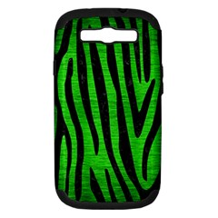 Skin4 Black Marble & Green Brushed Metal Samsung Galaxy S Iii Hardshell Case (pc+silicone)